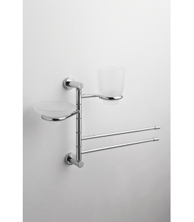 Wall-mounted toilet stand Ceramic toilet brush holder Paros