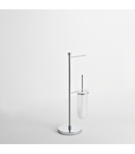 Toilet stand Frosted glass toilet brush holder Paros
