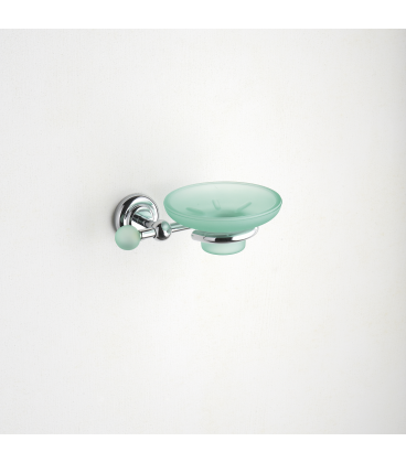 Frosted glass soap dish holder Tau