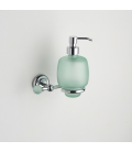 Frosted glass soap dispenser holder Tau