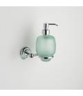 Frosted glass soap dispenser holder Tau