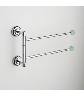 Wall mounted double towel holder Tau