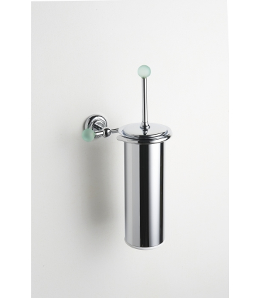 Brass wall-mounted toilet brush holder Tau