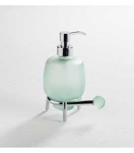 Frosted glass standing soap dispenser Tau