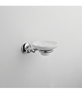 Frosted glass soap dish holder Zacinto