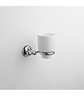 Bathroom wall mounted ceramic tumbler holder Zacinto
