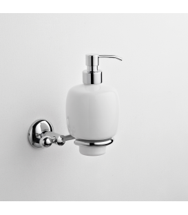 Wall mounted ceramic soap dispenser holder Zacinto