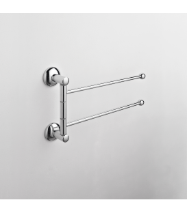 Wall mounted double towel holder Zacinto