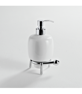 Ceramic standing soap dispenser holder Zacinto