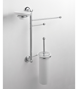 Wall-mounted toilet stand Ceramic toilet brush holder Zacinto