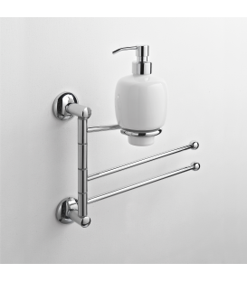 Wall-mounted bidet stand Ceramic soap dispenser Zacinto