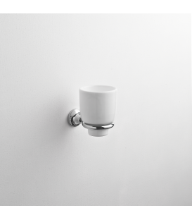 Bathroom wall mounted ceramic tumbler holder Rho