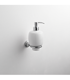 Wall mounted ceramic soap dispenser holder Rho