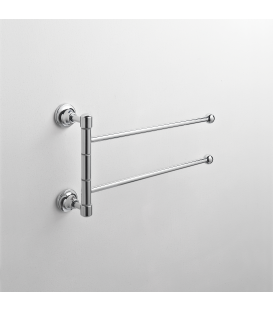 Wall mounted double towel holder Rho