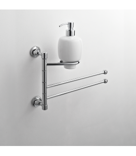 Wall-mounted bidet stand Ceramic soap dispenser Rho