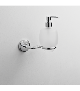 Frosted glass soap dispenser holder Zeto