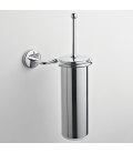 Brass wall-mounted toilet brush holder Zeta