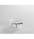 Frosted glass standing soap dish holder Zeta