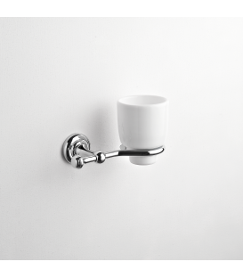 Bathroom wall mounted ceramic tumbler holder Eta