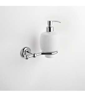 Wall mounted ceramic soap dispenser holder Eta
