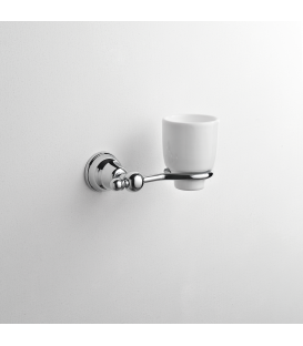 Bathroom wall mounted ceramic tumbler holder Omega