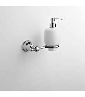 Wall mounted ceramic soap dispenser holder Omega