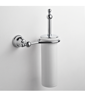 Ceramic wall-mounted toilet brush holder Omega