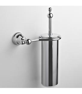 Brass wall-mounted toilet brush holder Omega