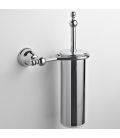 Brass wall-mounted toilet brush holder Omega