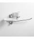 Ceramic standing soap dispenser and tumbler holder Obra