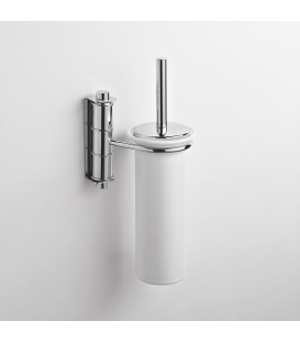 Ceramic wall-mounted toilet brush holder Obra